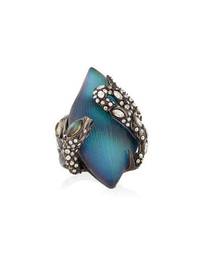 Alexis Bittar Crystal Lace Snake Ring