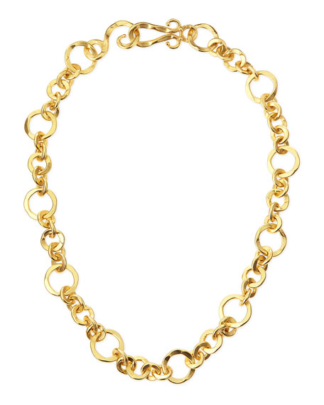 "Coronation 24k Gold Plate Small Necklace, 18""L"