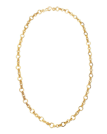 "Coronation 24k Gold Plate Small Necklace, 42""L"