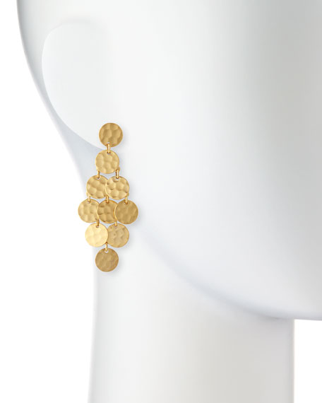 24k Gold-Plated Shimmer Cascade Earrings