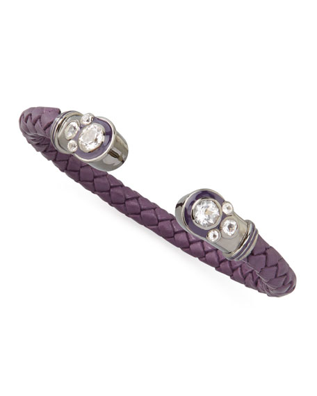 White Topaz Horseshoe Cuff, Purple