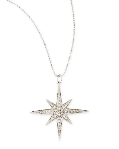 Sydney Evan 14k White Gold Diamond Starburst Necklace
