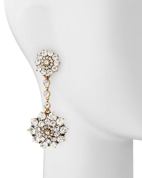 Clear Crystal Drop Clip-On Earrings