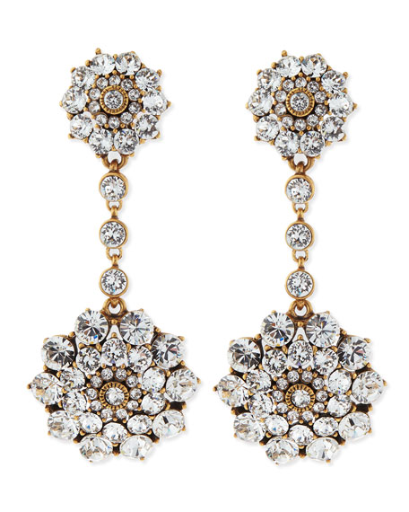 Clear Crystal Drop Clip-On Earrings