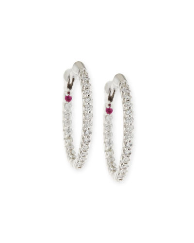 XS Pavé Diamond Hoop Earrings