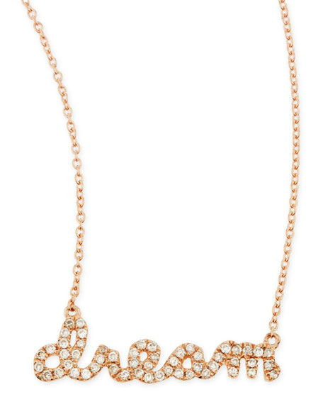 14k Rose Gold Diamond Dream Necklace
