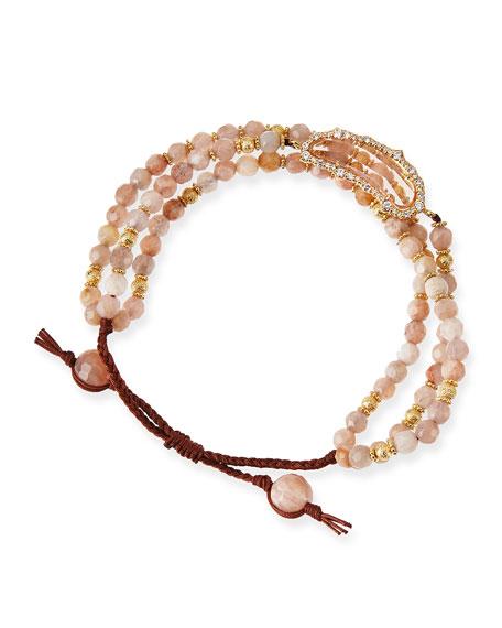 Multi-Strand Rose Agate Bracelet