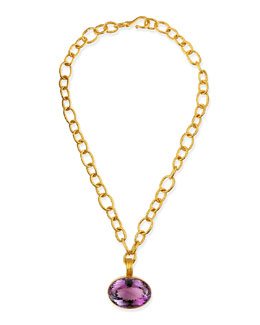Dina Mackney Oval Amethyst Pendant Necklace