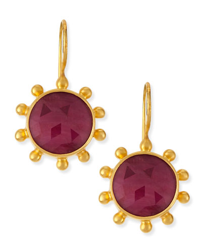 Ruby Pinwheel Earrings