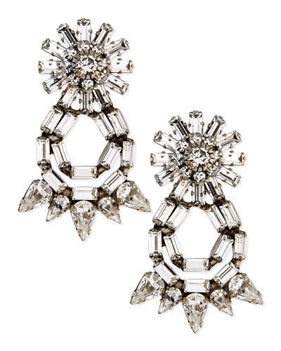 Dannijo Grace Crystal Statement Earrings