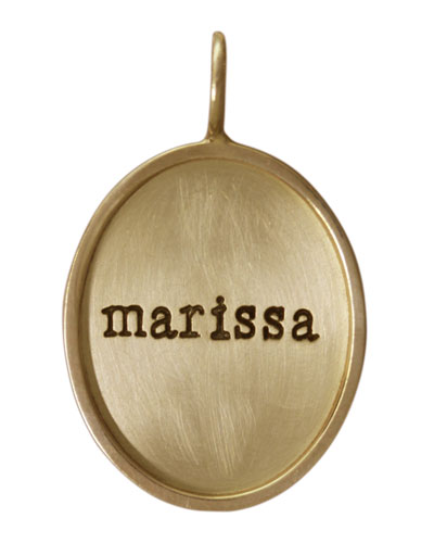 Oval 14k Gold/Gold Single Lowercase Name Charm