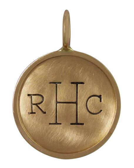 14k Yellow Gold Uppercase Monogram Charm