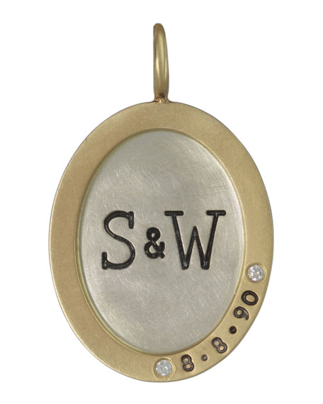 Heather Moore Oval Silver & 14k Gold Anniversary
