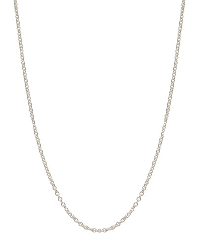 "Heather Moore 2mm Sterling Silver Chain Necklace, 17""L"