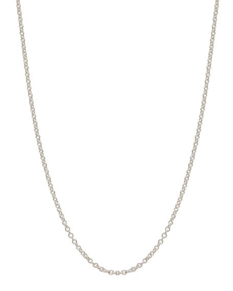 2mm Sterling Silver Chain Necklace, 17