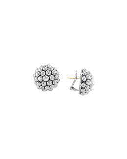 Lagos Sterling Silver Caviar Round Clip Earrings, 22mm