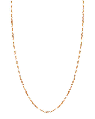 1.5mm Rose Gold Chain Necklace, 17""