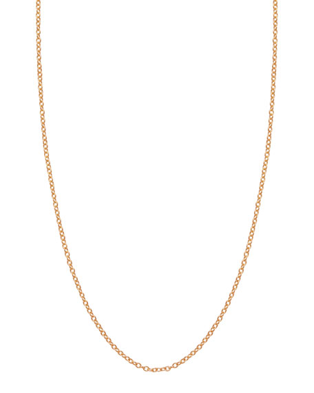 1.5mm Rose Gold Chain Necklace, 17