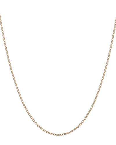 1.5mm Yellow Gold Chain Necklace, 17""