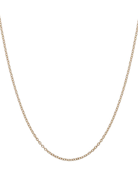 1.5mm Yellow Gold Chain Necklace, 17