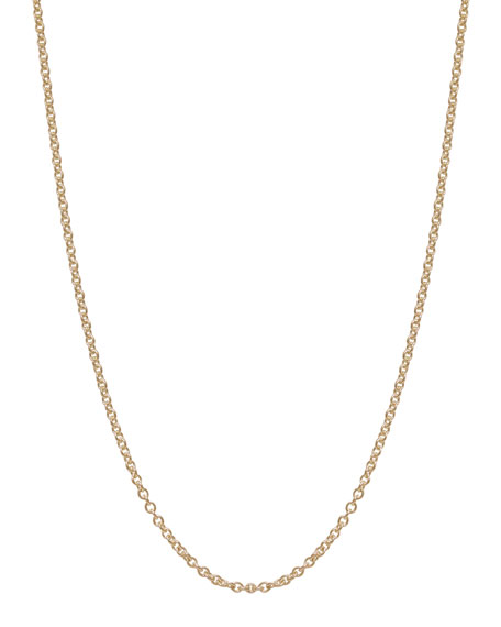 2mm 14k Yellow Gold Chain Necklace, 18