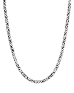 Lagos Sterling Silver Rope Necklace, 4mm