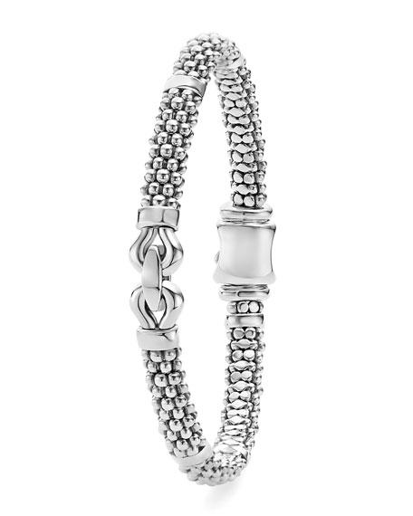 Silver Derby Bracelet, 6mm