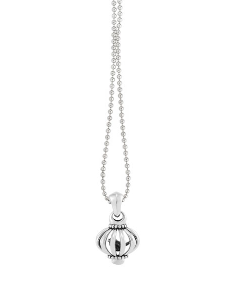 "Medium Birdcage Pendant Necklace, 36""L"