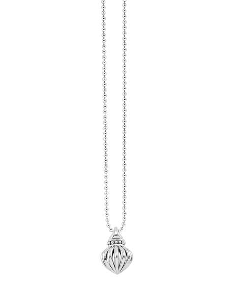 "Fluted Pendant Necklace, 34""L"