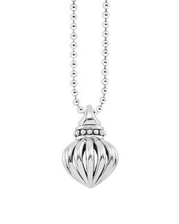 "Lagos Fluted Pendant Necklace, 34""L"