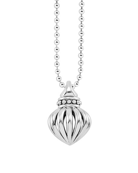 "Fluted Pendant Necklace, 34""L"