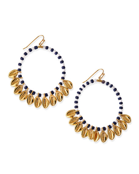 Mikah Beaded Hoop Earrings