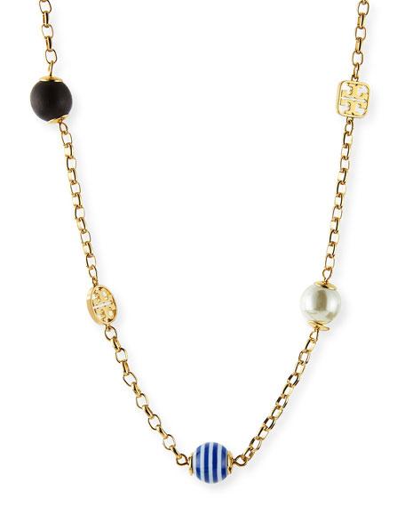 Saher Mixed-Bead Rosary Necklace
