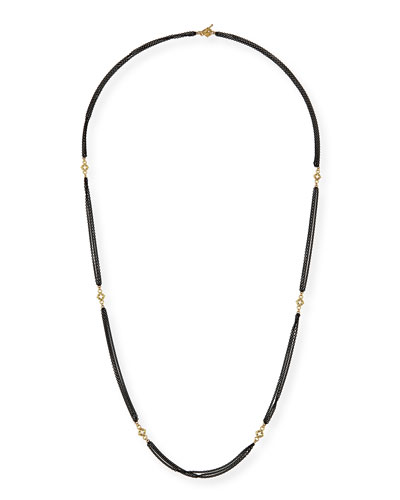 Old World Cable Chain Necklace with Diamonds