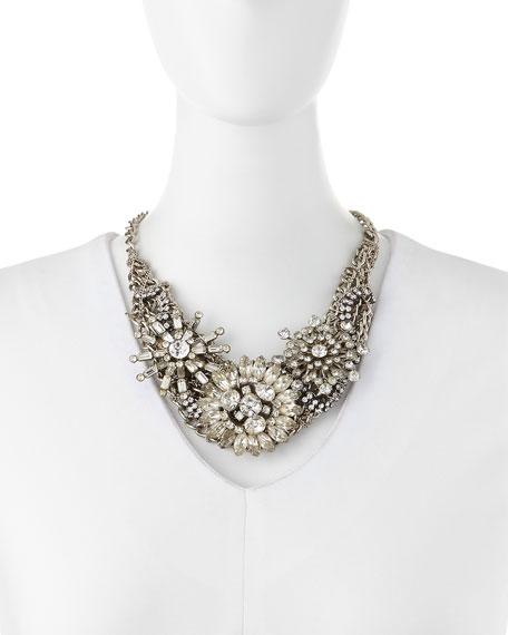 Silvertone Vintage Collage Necklace