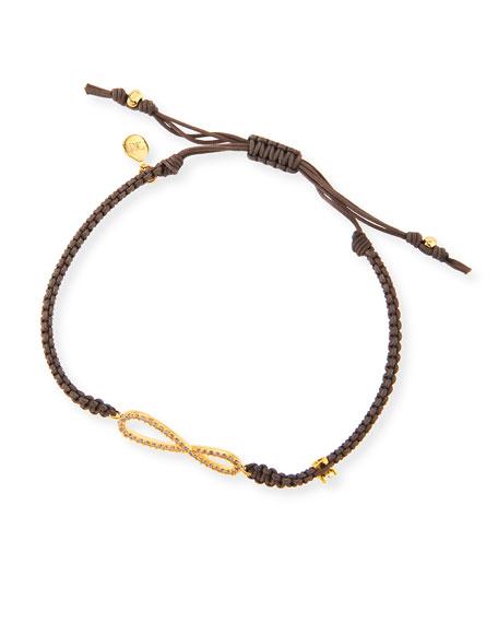 Braided Bracelet with Infinity Charm