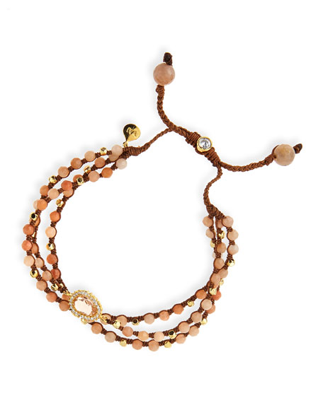 Tai Rose Agate 3-Strand Bracelet
