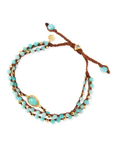 3-Strand Amazonite Beaded Bracelet