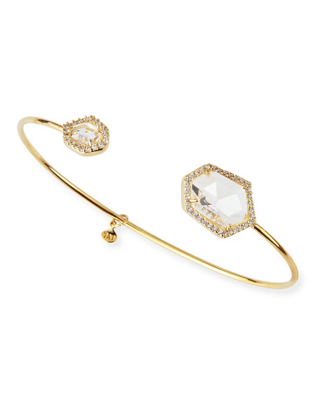Clear-Facet Pinch Bracelet