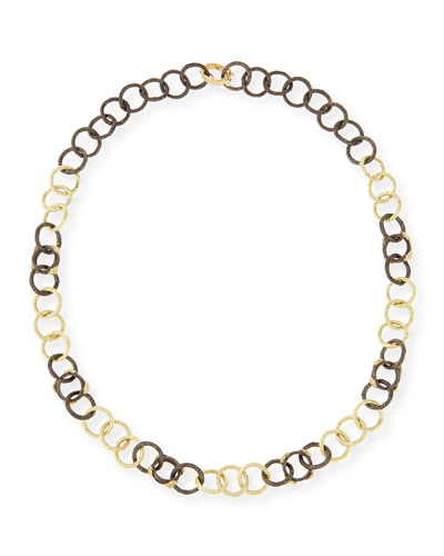 Armenta Midnight & Yellow Gold Diamond Link Necklace