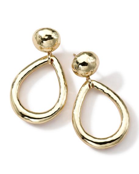 18k Gold Glamazon Medium Dot & Teardrop Post Earrings