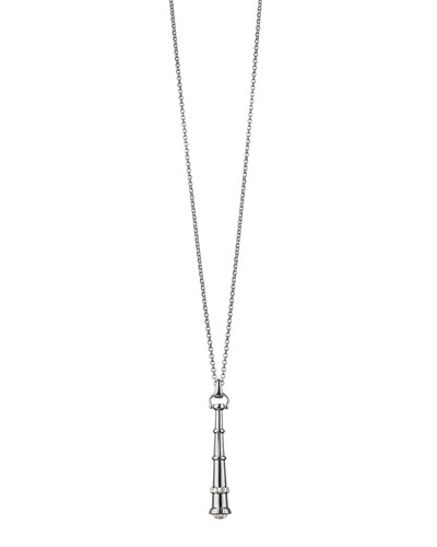 Monica Rich Kosann Silver Curiosity Telescope Necklace