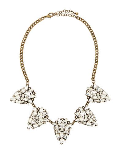 Rhinestone Teardrop Necklace