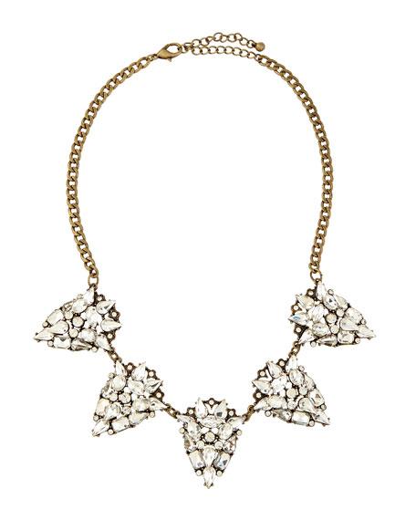 Jules Smith Rhinestone Teardrop Necklace