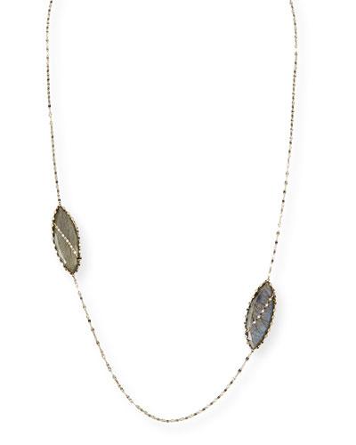 Lana Double Gloss Labradorite Necklace