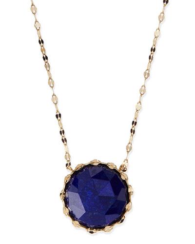 Lana Splash Rose-Cut Lapis Pendant Necklace