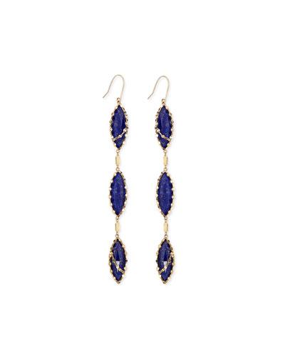 Lana Tri Lapis Splash Earrings