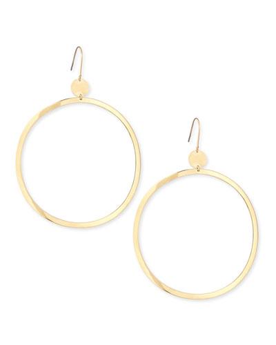 Lana 14k Gold Large Wave Hoop Earrings
