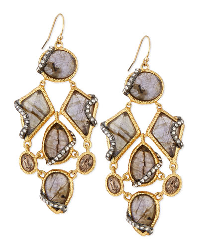 Multi Stone Drop Earrings