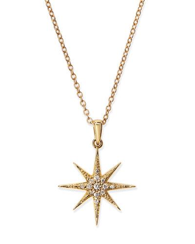 Pave Diamond Star Pendant Necklace